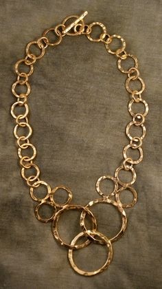 Hammered Hoops Necklace by SigillodiArgento on Etsy, $115.00