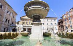 12 Roman Fountains That Will Make You Want to Book a Flight: Fontana di Piazza Santa Maria in Trastevere