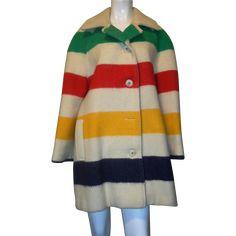 Ladies Vintage Hudson's Bay Jacket found at www.rubylane.com @rubylanecom