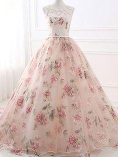 Beautiful Prom Dresses Ball Gown Pearl Pink Chic Prom Dress/Evening Dress JKL408