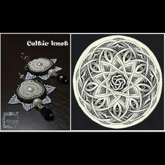 """Сутажные серьги """"Celtic knot"""", #earrings #soutache #yuliaozmen"""