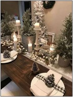 Here are the Rustic Christmas Table Settings Ideas. This article about Rustic Christmas Table Settings Ideas was posted under the … Christmas Table Centerpieces, Indoor Christmas Decorations, Christmas Table Settings, Christmas Tablescapes, Dining Table Centerpieces, Simple Centerpieces, Centerpiece Ideas, Farmhouse Christmas Decor, Rustic Christmas