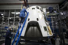 SpaceX has released this photo of the Dragon spacecraft for the pad abort test. Credit: SpaceX