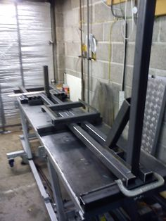 Frame Jig by Maz -- Homemade motorcycle frame jig fabricated from steel tubing, bar stock, threaded rod, and hardware. http://www.homemadetools.net/homemade-frame-jig-9