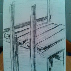 Just a really quick #sketch of a #dock. Kind of broken down! #art #artistic #artoftheday #pencil #drawing #drawingaday #sketchaday