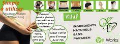 Le Wrap est un tissu non tissé imprégné d'actifs amincissants concentrés à 90% Résultats visibles en 45 mn