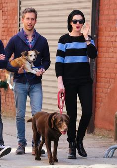 Anne Hathaway Photos: Anne Hathaway & Adam Shulman Out And About In NYC