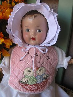 Unmarked composition doll, 1930's.