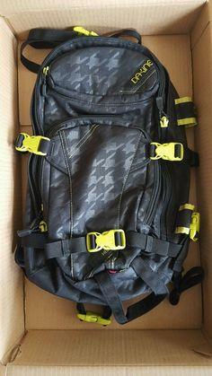 Dakine Backpack Heli Pro Black Yellow Ski Snowboard Pack | eBay