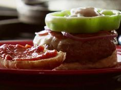 Supreme Pizza Burgers recipe from Ree Drummond via Food Network