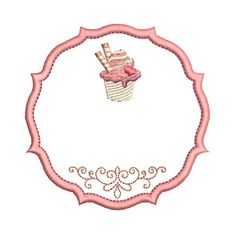 MOLDURA PARA PERSONALIZAR SORVETES Baking Logo Design, Food Logo Design, Logo Food, Cake Background, Flower Background Wallpaper, Flower Backgrounds, Cupcake Illustration, Cupcake Logo, Cupcake Party