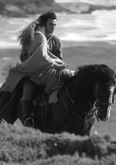 """""""Aidan Turner : There were some great moment when Eleanor (Tomlinson - Demelza) and I ride double together on Seamus. It can be tricky, it all depends who is on the back as it's always a rocky ride..."""