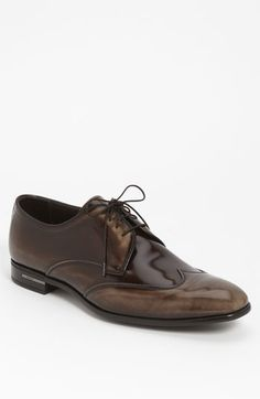 The Best Men's Shoes And Footwear : Prada Wingtip Derby -Read More – Mode Shoes, Men's Shoes, Shoe Boots, Dress Shoes, Prada Shoes, Sharp Dressed Man, Well Dressed Men, Formal Shoes, Casual Shoes