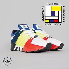 #adidas #colorblocking #multicolor #mondriaan #sneakerbaas #baasbovenbaas  Adidas EQT 'Multicolor'- Adidas gave the EQT a fresh, multicolor colorway. We think it's a real piece of art!  Now online available | Priced at 139.99 EU | Men Sizes 41.3 - 45.3 EU |