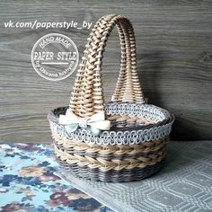 VK is the largest European social network with more than 100 million active users. Newspaper Basket, Newspaper Crafts, Paper Basket Weaving, Paper Furniture, Cardboard Paper, Braids With Weave, Art N Craft, Paper Beads, Wicker Baskets