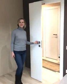 Door Design Interior, Apartment Interior Design, Luxury Interior Design, Interior Barn Doors, Modern Interior, Interior Architecture, Modern Small Bathrooms, Bathroom Design Small, Space Saving Bathroom