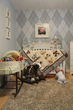 If Alec has any say, this is what our future son's nursery will look like.