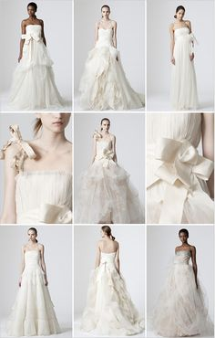 I wish I could afford VERA WANG!!  Aren't they romantic!?!