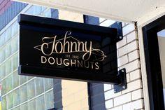 Johnny Doughnuts Doughnut Truck Donut Shop Food Truck Bakery San Rafel San Francisco Bay Area Logo Design Brand Identity Art Deco Signage Logo Sign