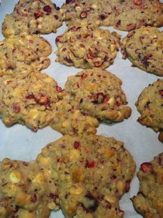 Cranberry, White Chocolate Chip and Oatmeal Cookies