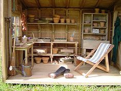 dollhouse sheds | Miniature garden sheds for dollhouses, roomboxes and dioramas