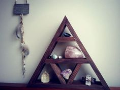 Crystal Display  Altar  Crystals  Shelf  Geometric  by FiveSouls