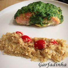 Quinoa com Salmão e Creme de Espinafre light