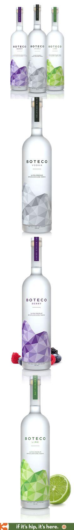 Brazilian's Premium Cane Vodka, Boteco Vodka, comes in beautiful bottles designed by Shatterbox Studios.
