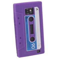 Purple Cassette Silicone Skin Case For Samsung Galaxy S2 i9100(not for Sprint & T-mobile)