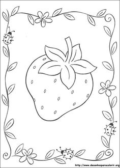 Big strawberry coloring page. Find your favorite Big strawberry coloring page in STRAWBERRY SHORTCAKE coloring pages section. Print this Big strawberry . Fruit Coloring Pages, Cute Coloring Pages, Coloring Pages For Girls, Coloring For Kids, Free Coloring, Coloring Sheets, Adult Coloring, Coloring Books, Online Coloring