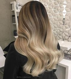 Creamy Blonde Ombre For Brown Hair