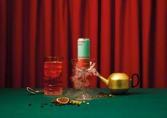 Happy Hour Kombucha Cocktail | Best Awards Parfum Cartier, Strawberry Banana Milkshake, Kombucha Cocktail, Brew Shop, Mood And Tone, Christmas Hamper, Food Photography Styling, Product Photography, Cosmetic Design