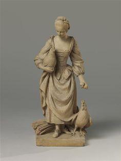 La Fermière dite aussi La Marchande d'oeufs Falconet Etienne Maurice  - Sèvres, 1750 - Réunion des Musées Nationaux-Grand Palais -