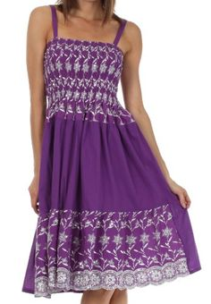 Sakkas 6502 Sequin Embroidered Smocked Bodice Knee Length Dress - Purple - One Size Sakkas,http://www.amazon.com/dp/B00EEERMTU/ref=cm_sw_r_pi_dp_9lJetb08276H2N2N
