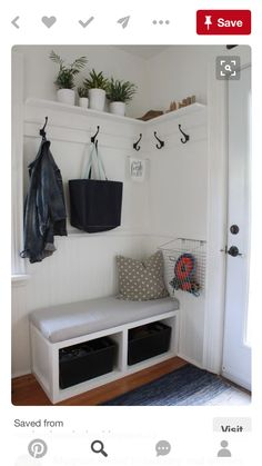 As new homes keep getting larger and larger, so too has the trend toward designing new garages to accommodate more (and bigger) vehicles as well as a host of storage needs. Garage design has started receiving more attention than it used to. Hallway Decorating, Entryway Decor, Entryway Ideas, Small House Decorating, Entrance Design, Porch Decorating Ideas Uk, Porch Entrance Ideas, Porch Ideas Uk, Hallway Ideas Entrance Narrow