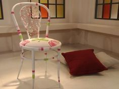 Silla estilo vintage | Lala Castro Vintage Fox, Ideas Para, Chair, Crafts, Furniture, Home Decor, Vintage Style, Chairs, Pintura