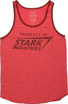 3ad832b2f22 Marvel Comics Iron Man Stark Industries Ringer Tank Top
