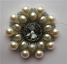 Pendant with pearl beads   biser.info - all about beads and beaded works