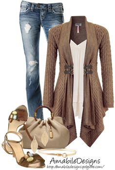 """Style this Cardigan"" by amabiledesigns on Polyvore"