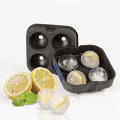Savvy Ice Silicone Sphere Ice Mold Set [2-pk]  - Makes 8 Ice Balls - Unique Slow Melting Drink Chillers - Easy Storage Stackable Round Ice Cube Trays - Enjoy Tastier Cocktails & Iced Cold Beverages.  DON'T BE A SQUARE! - We've harnessed the power of science to bring you these perfectly round, ingenious ice spheres! They have less surface area, so the ice melts slowly.  Our ice balls are 2 inches in diameter, so they are the perfect size for flavor experimentation. 2pk - $14.95 + FREE…