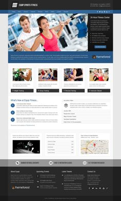 Equip #sports and #fitness #Joomla #theme available on ThemeForest. #repsonsive #bootstrap #gym #personaltrainer #webdesign #template #inspiration #bodybuilding #mma