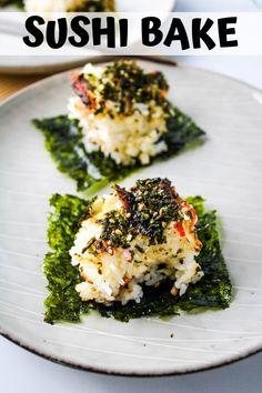 Baked Sushi Recipe, Sushi Rice Recipes, Seafood Recipes, Sushi Rice Recipe Hawaii, Sushi Casserole Recipe, Sushi Stacks Recipe, Vegetarian Sushi Recipes, Best Sushi Rice, Rice For Sushi