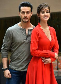 Tiger Shroff and leading lady Disha Patani promoted their upcoming film Baaghi 2 at an event in New Delhi recently Bollywood Couples, Bollywood Girls, Bollywood Stars, Bollywood Fashion, Bollywood Actress, Beautiful Girl Indian, Most Beautiful Indian Actress, Indian Celebrities, Bollywood Celebrities