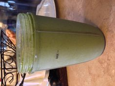 My healthy breakfast this morning. So good:)  1 cup of frozen mango ½ lime peeled and deseeded ½ banana 2 cups of kale My greens powder Coconut water to line 3-4 ice cubes