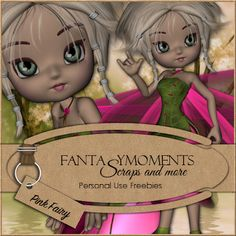 Poser Tubes Freebie | Fantasymoments: Poser Tubes Cookie Pink Fairy