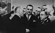 """""""Atatürk, o günün akşam üzeri burun kanaması nedeniyle akşam Balkan Antantı üyeleri şerefine verilen bu yemeğe geç gelmişti.""""  Çankaya Köşkü, Ankara 27 Şubat 1938"""