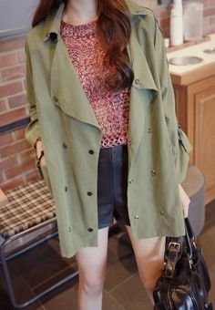 Wide Lapel Double Breasted Jacket