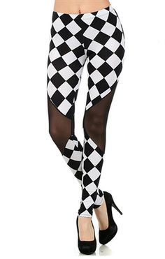 Spring Mesh Harlequin Leggings #worldofleggings #leggings #fashion #check