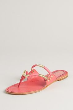 Juicy Couture Zsia Zsia Sandal in coral with gold detail