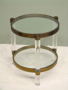 Vintage Lucite Table by Charles Hollis Jones